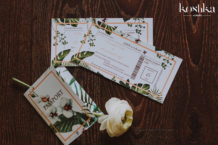 hawaii wedding invitation original white peonie
