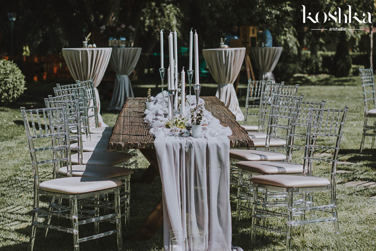 wedding rustic table